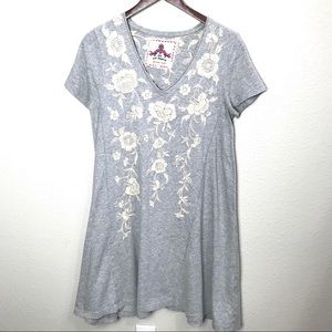 JWLA Johnny Was Embroidered Swing Dress Small